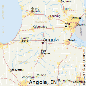 Best Places To Live In Angola Indiana - Indiana state map with cities