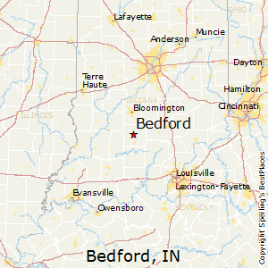 Bedford,Indiana Map