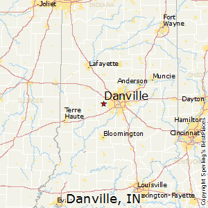 Danville,Indiana Map