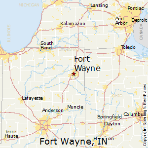 Fort_Wayne,Indiana Map