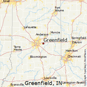 Greenfield,Indiana Map