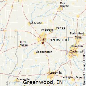 Greenwood,Indiana Map