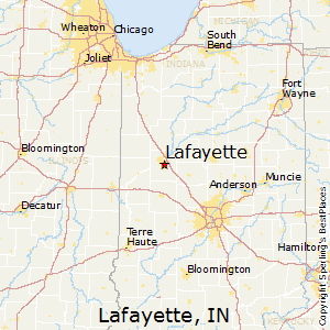 Lafayette,Indiana Map