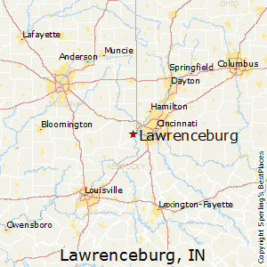 Lawrenceburg,Indiana Map