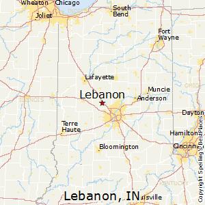 Lebanon,Indiana Map