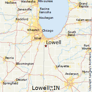 Lowell,Indiana Map