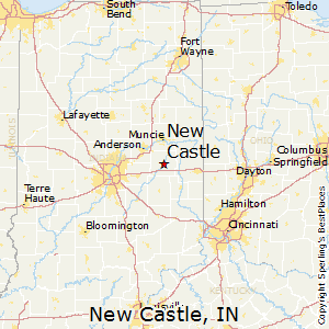 New_Castle,Indiana Map