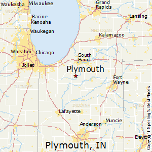 Plymouth,Indiana Map