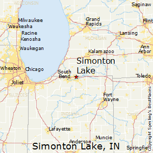 Simonton_Lake,Indiana Map