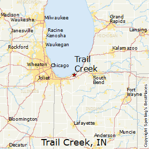 Trail_Creek,Indiana Map