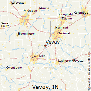 Vevay,Indiana Map
