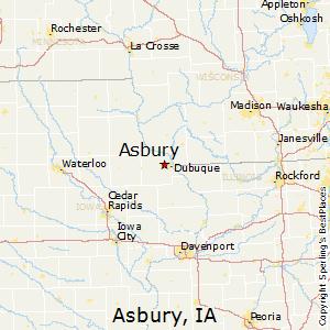 Asbury,Iowa Map