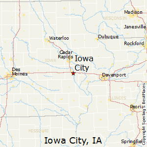 Iowa_City,Iowa Map