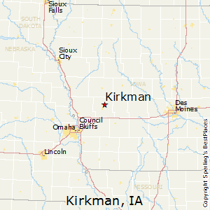 Kirkman,Iowa Map