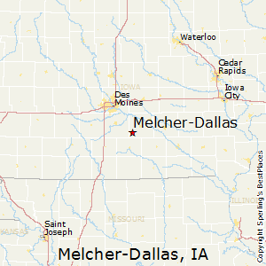 Melcher-Dallas,Iowa Map