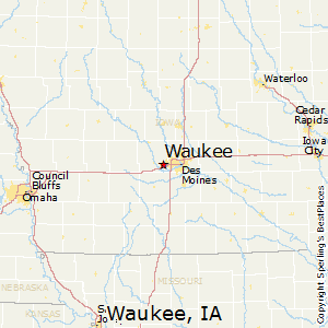 Waukee,Iowa Map
