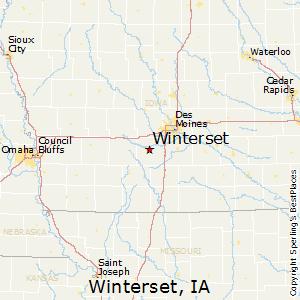 Winterset Iowa City Map