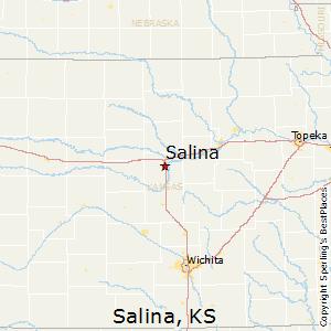 Salina,Kansas Map