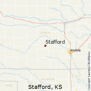 Stafford,Kansas Map