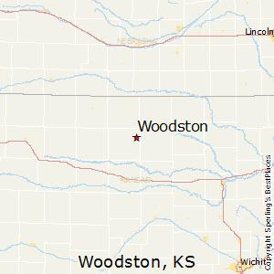 Woodston,Kansas Map