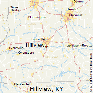 Hillview,Kentucky Map