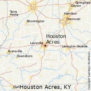 Houston_Acres,Kentucky Map