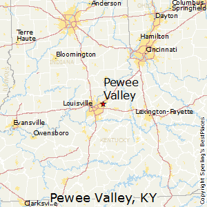 Pewee_Valley,Kentucky Map