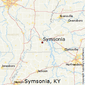 Symsonia,Kentucky Map