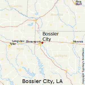Bossier_City,Louisiana Map