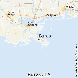 Comparison Grand Isle Louisiana  Buras Louisiana
