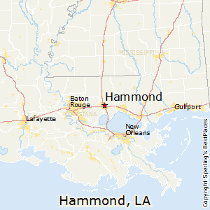 Hammond,Louisiana Map