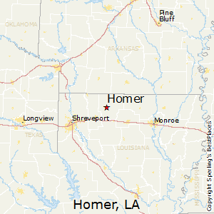 Homer,Louisiana Map