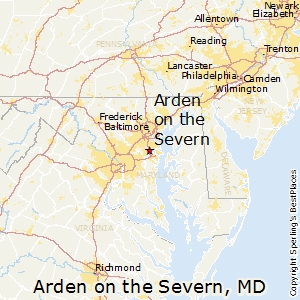 Arden_on_the_Severn,Maryland Map