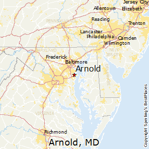 Arnold,Maryland Map