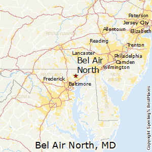 Bel_Air_North,Maryland Map