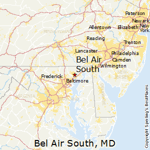 Bel_Air_South,Maryland Map