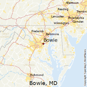 Bowie,Maryland Map