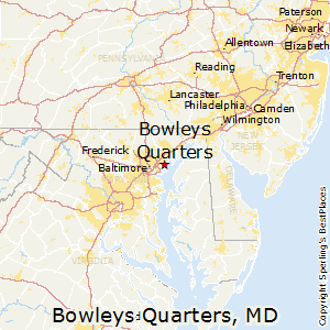 Bowleys_Quarters,Maryland Map