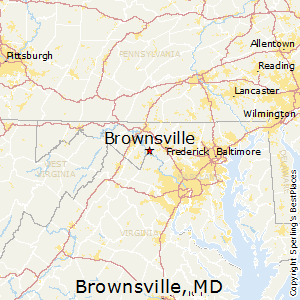 Brownsville,Maryland Map