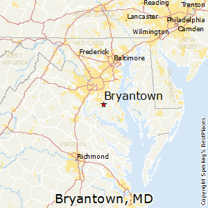 Bryantown,Maryland Map