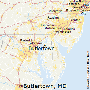 Butlertown,Maryland Map