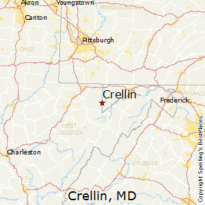 Crellin,Maryland Map