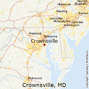 Crownsville,Maryland Map