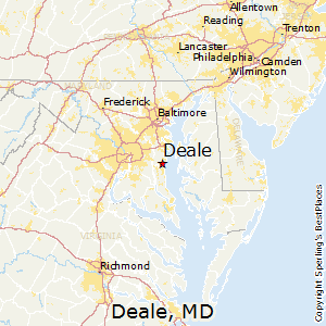 Deale,Maryland Map