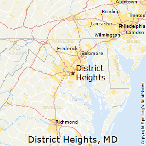 District_Heights,Maryland Map