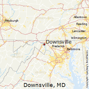 Downsville,Maryland Map