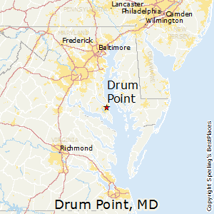Drum_Point,Maryland Map