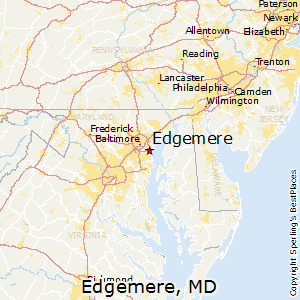 Edgemere,Maryland Map