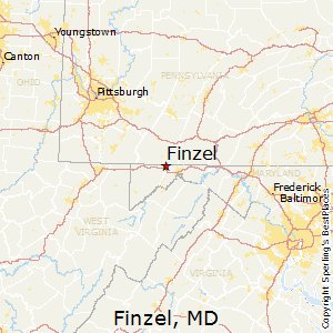 Finzel,Maryland Map