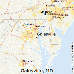 Galesville,Maryland Map